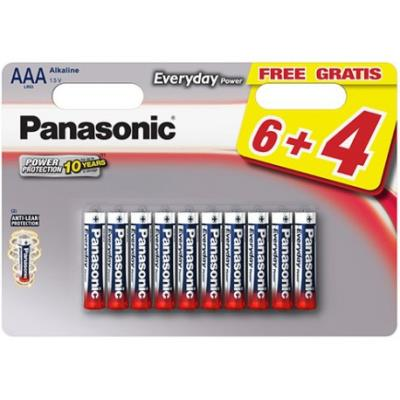 10 Piles Everyday Power LR03 6+4 gratuites