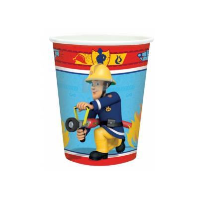 Gobelets Sam le pompier (x8)