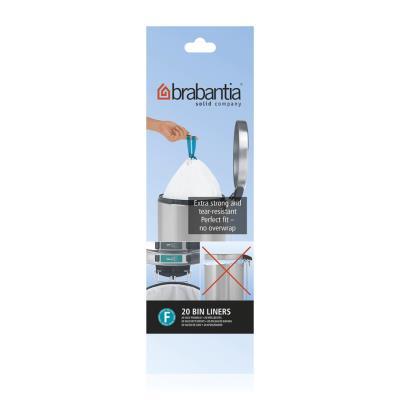 BRABANTIA - 20 sacs poubelle 'smartfix' slimline 20 L