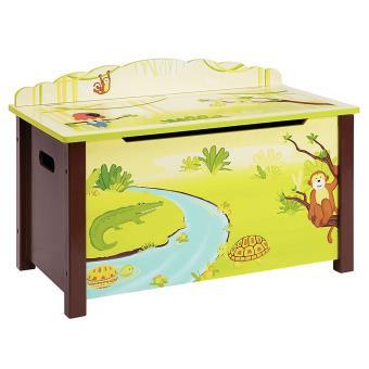 grande vente 5ffa2 bc1b1 Coffre à Jouets enfant en bois motif Forêt - Dim : H 57.15 x ...