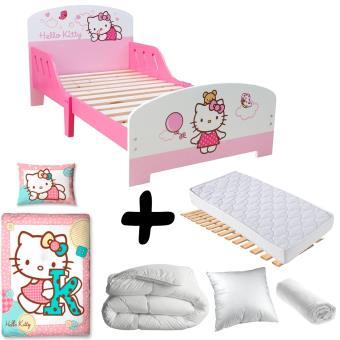 Pack Complet Premium Lit Nuage Hello Kitty Lit Matelas Parure