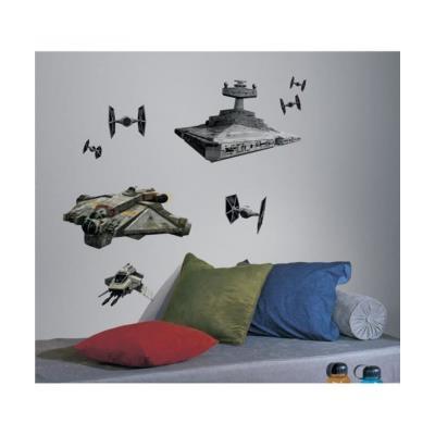 Roommates 539104 star wars vaisseaux rebelles et empire autocollant multi-elements repositionnable multicolore 0,01 cm
