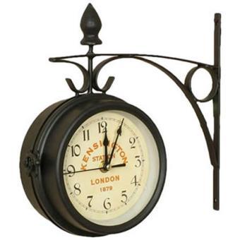 horloge de gare r tro double face kensington london. Black Bedroom Furniture Sets. Home Design Ideas