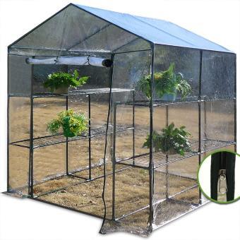 Serre avec bâche plastique transparente Plantation Légumes ...