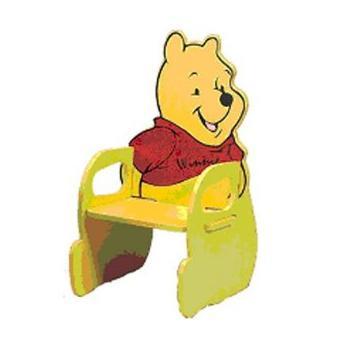chaise en bois enfant winnie l 39 ourson achat prix fnac. Black Bedroom Furniture Sets. Home Design Ideas