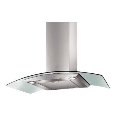 Elica Arch - Hotte - hotte décorative - largeur : 90 cm - profondeur : 45 cm - evacuation & recyclage - inox et verre