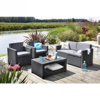 monaco salon de jardin aspect rotin tress mobilier de jardin achat prix fnac. Black Bedroom Furniture Sets. Home Design Ideas