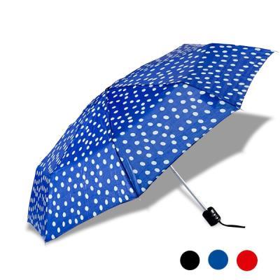 Parapluie à petits pois bleu