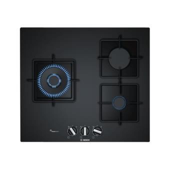 bosch serie 6 ppc6a6b10 table de cuisson au gaz 60 cm noir verre tremp sans cadre. Black Bedroom Furniture Sets. Home Design Ideas