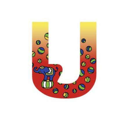 Lettre décoration Circus U