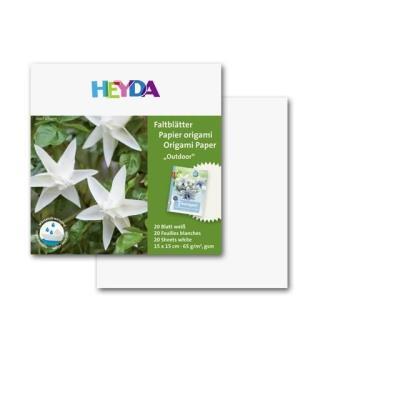 HEYDA Papier Origami Blanc 40 feuilles 15*15 cm