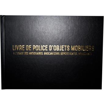 registre sp cial antiquaire brocanteur livre de police d 39 objets mobiliers registre de. Black Bedroom Furniture Sets. Home Design Ideas
