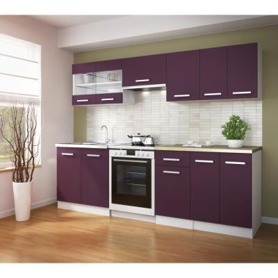 ULTRA cuisine complete 240 cm couleur aubergine