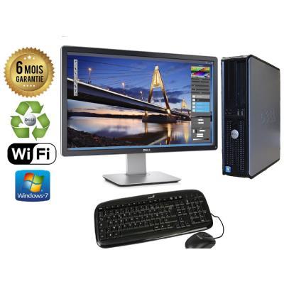 Unite Centrale Dell 780 SFF Core 2 Duo E7500 2,93Ghz Mémoire Vive RAM 8GO Disque Dur 80 GO Graveur DVD Windows 7 Wifi - Ecran 22(selon arrivage) - Processeur Core 2 Duo E7500 2,93Ghz RAM 8GO HDD 80 GO Clavier + Souris Fournis
