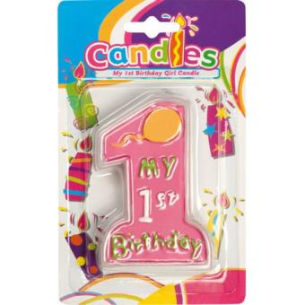Bougie Anniversaire 1 An Fille