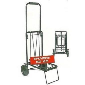 chariot trolley roulette pliable pliant porte bagage valise 60kgs diable manutention. Black Bedroom Furniture Sets. Home Design Ideas