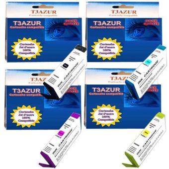 Lot De 4 Cartouches Compatibles Pour Hp Photosmart 5510 5515 5520 5522 5524 5525 Pack De Cartouches Achat Prix Fnac