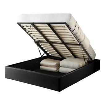 majesty lit coffre adulte 160x200 sommier noir lit pour enfant achat prix fnac. Black Bedroom Furniture Sets. Home Design Ideas