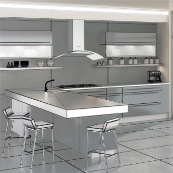 hotte cuisine murale silverline zinia inox et verre 60 cm achat prix fnac. Black Bedroom Furniture Sets. Home Design Ideas