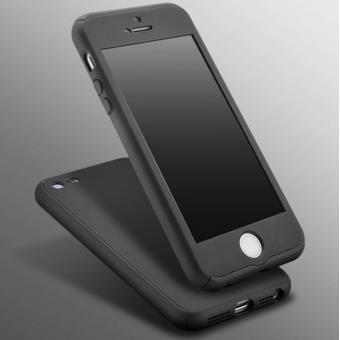 BPFY Etui Coque Houe 360 NOIR FULL PROTECTION Anti Chocs pour IPHONE 7