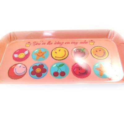 Smiley [L9082] - Plateau à cake 'Smiley' pèche