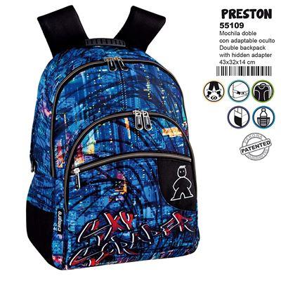 Montichelvo Montichelvo Double Backpack A.O. Cmp Preston Cartable, 43 cm, Multicolore (Multicolour)