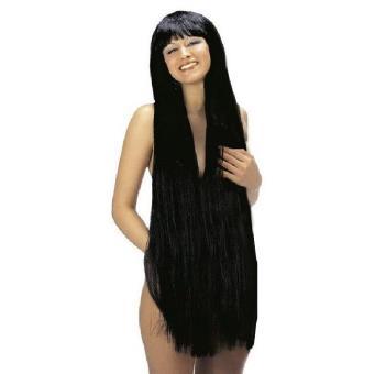 Mondial-fete - Perruque extra longue brune