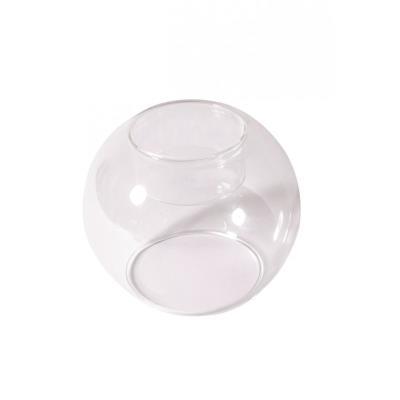 Bougeoir boule en verre Transparent