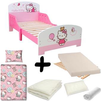Pack Complet Lit Nuage Hello Kitty U003d Lit+Matelas U0026 Parure+Couette+Oreiller    Chambres Enfant Complètes   Achat U0026 Prix | Fnac