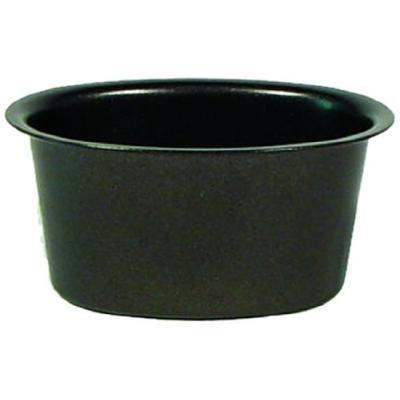 patisse 2809 lot de 4 moules aspics ovale antiadhésif acier revêtu noir 12 x 6,5 x 4 cm