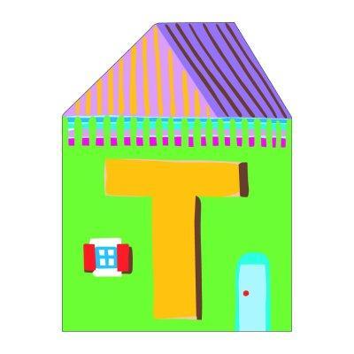 Djeco - Lettre petite maison en bois - T