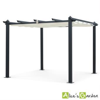 Pergola Aluminium 3x3m Condate écru Tonnelle Abri De Terrasse Alice S Garden