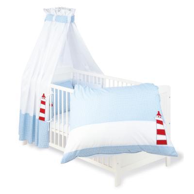 Pinolino - Parure lit bébé - 4 pièces - 120x60cm ou 140x70cm – Bateau Ohé