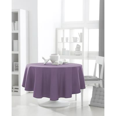 Nappe ronde polyester FAMILY 180cm Figue