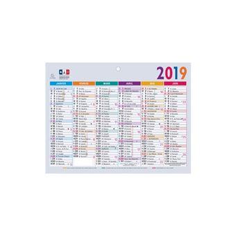 Petit Calendrier 2019.Exacompta Petit Calendrier Mural 2019 13 X 17 Cm