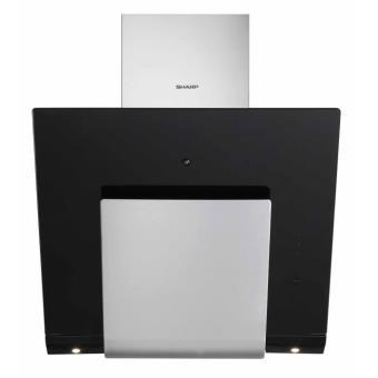 sharp kl 611tbmh hotte design 60cm inox et verre noir achat prix fnac. Black Bedroom Furniture Sets. Home Design Ideas