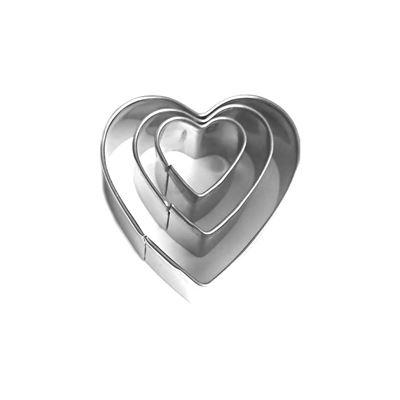Loisirs Créatifs DIY - Emporte-pièce Coeur x 3 - Pâte polymère, de métal