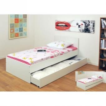 oslo lit enfant 1 tiroir 90 x 190 cm blanc lit pour enfant achat prix fnac. Black Bedroom Furniture Sets. Home Design Ideas