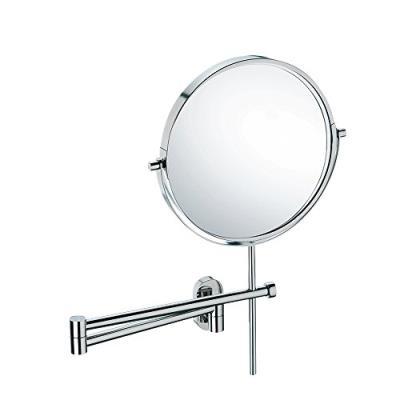 Kela 22679 lucido miroir cosmétique mural grossissant 3x acier inoxydable brillant 34,5 x 8 x 40 cm