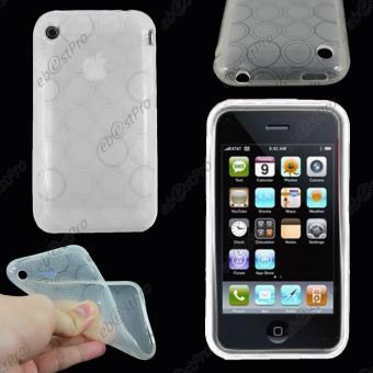 ebestStar pour Apple iPhone 3GS 3G Houe Etui Coque Souple Silicone Gel Motif Cercle Couleur Transparent