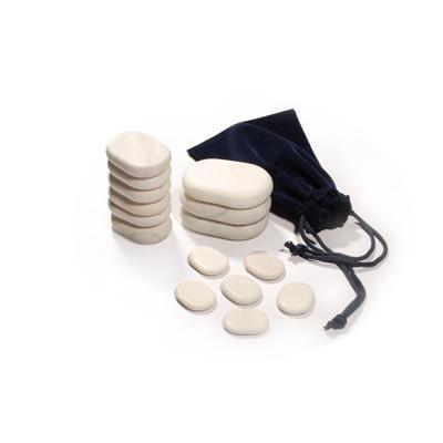 Pochette de 15 pierres de massage en marbre