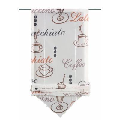 Home fashion 57132-802 store romain style voilage café crème 140 x 45 cm
