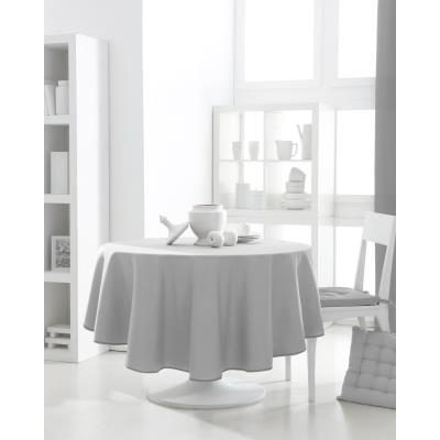Nappe ronde polyester FAMILY 180cm Zinc