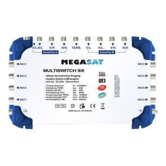 Megasat Multiswitch 9/8 - multischakelaar voor satelliet- en aardse signalen