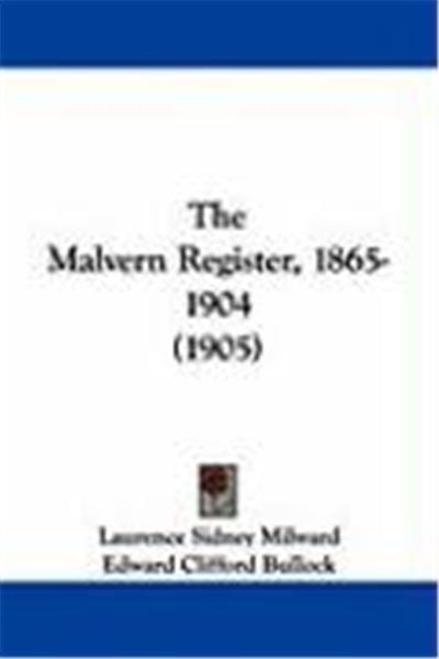 The Malvern Register, 1865-1904 (1905)