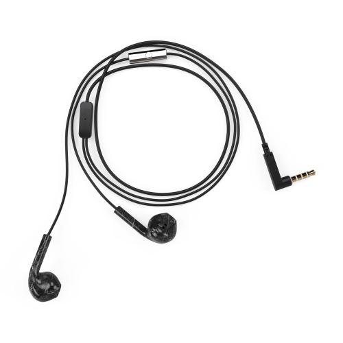 Ecouteurs Happy Plugs Earbud Plus Marbre Noir