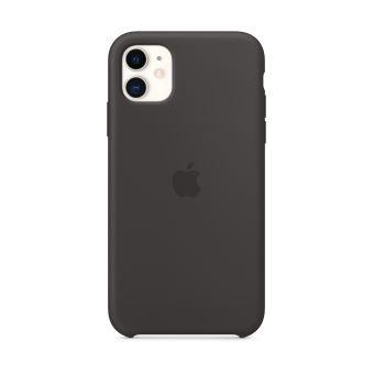 Coque en silicone pour iPhone 11 Noir