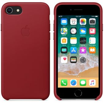 iphone 8 coque apple rouge