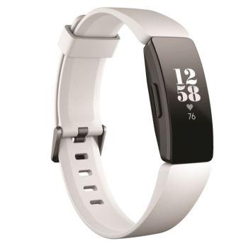 Fitbit Inspire HR zwart-witte verbonden armband