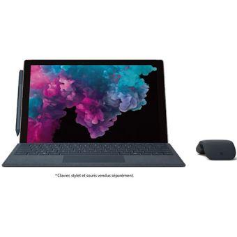 "PC Hybride Microsoft Surface Pro 6 12.3"" Tactile Intel Core i5 8 Go RAM 128 Go SSD Platine"